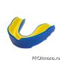 Капа для карате детская одночелюстная синяя с жёлтым