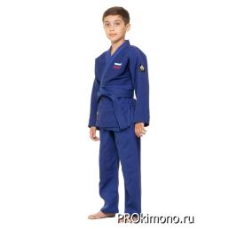 Детское кимоно для дзюдо синее