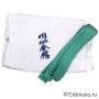 Кимоно для Эншин карате белое кандзи синий рост 180-185