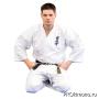 Кимоно для карате Киокушинкай белое кандзи синий рост 185-190
