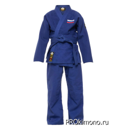 Кимоно для дзюдо синее стандарт