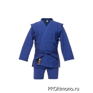 Кимоно для самбо детское синее