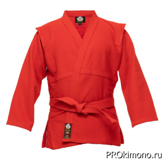 Куртка для самбо детская красная