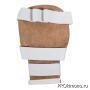 Накладки для карате Киокушинкай белые канку красный натуральная кожа XL