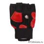 Перчатки детские для карате Киокушинкай открытые красные канку красный натуральная кожа