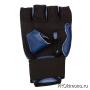 Перчатки для карате Кёкусин-кан открытые синие канку синий искусственная кожа