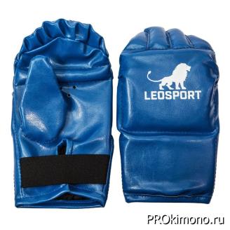 Перчатки снарядные синие искусственная кожа улучшенные