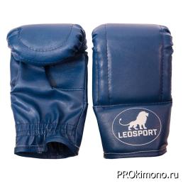 Перчатки снарядные синие натуральная кожа