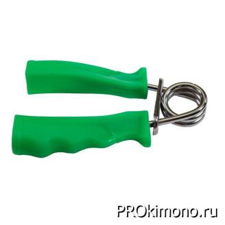 Подарок эспандер пружинный ручки пластик зеленый
