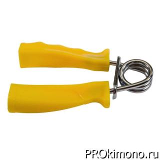 Подарок эспандер пружинный ручки пластик жёлтый