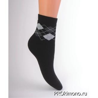 Подарок носки детские утепленные С322 черные размер 20-22