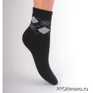 Подарок носки детские утепленные С322 черные размер 22-24