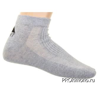 Подарок носки мужские спортивные L-361 серые размер 29-31