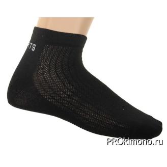 Подарок носки мужские спортивные L-363 черные размер 27-29