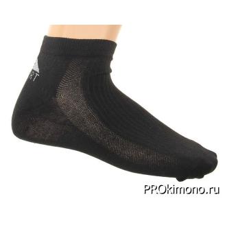 Подарок носки женские спортивные M-267 черные размер 23-25