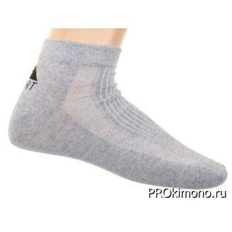Подарок носки женские спортивные M-267 серые размер 23-25