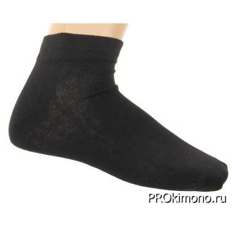 Подарок носки женские спортивные M-436 черные размер 23-25