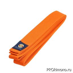 Пояс детский для карате Киокушинкай оранжевый