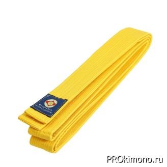 Пояс детский для карате Киокушинкай желтый