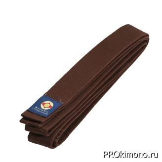 Пояс для карате Киокушинкай коричневый