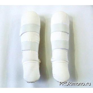 Протектор для голени и стопы белый хлопок