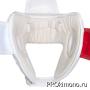 Шлем BFS модель - KYOKUSHINKAI детский открытый белый канку красный натуральная кожа