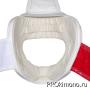Шлем BFS модель - SHINKYOKUSHINKAI белый для карате Шинкиокушинкай с защитой подбородка натуральная кожа