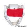 Шлем BFS модель - SHINKYOKUSHINKAI детский белый с защитой подбородка искусственная кожа