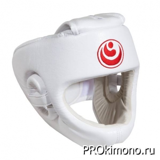 Шлем BFS модель - SHINKYOKUSHINKAI детский белый с защитой подбородка натуральная кожа
