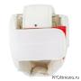 Шлем BFS модель - KYOKUSHINKAI детский белый с защитой подбородка искусственная кожа