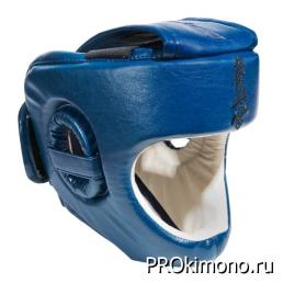 Шлем BFS модель - KYOKUSHINKAI детский синий с защитой подбородка искусственная кожа