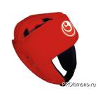 Шлем детский для карате Шинкиокушинкай открытый красный кокоро красный натуральная кожа