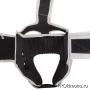 Шлем для карате Киокушинкай открытый белый канку красный натуральная кожа
