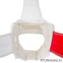 Шлем BFS модель - KYOKUSHINKAI белый для карате Киокушинкай с защитой подбородка искусственная кожа