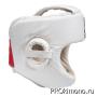 Шлем BFS модель - KYOKUSHINKAI белый для карате Киокушинкай с защитой подбородка натуральная кожа