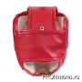 Шлем BFS модель - KYOKUSHINKAI красный для карате Киокушинкай с защитой подбородка искусственная кожа