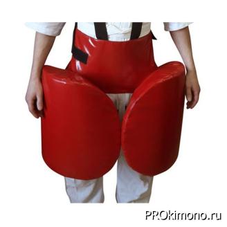 Защита для отработки лоукика детская красная тент