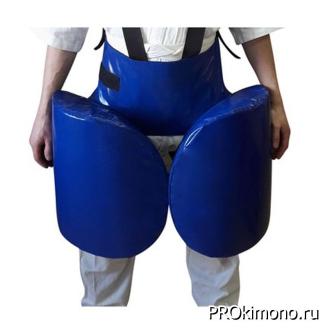Защита для отработки лоукика синяя натуральная кожа