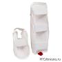Защита голени и стопы для карате Киокушинкай белая канку красный хлопок