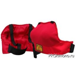 Защита груди для девушек красная спортивный трикотаж