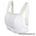 Защита груди для девушек облегченная белая хлопок