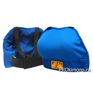 Защита груди для девушек синяя спортивный трикотаж