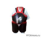 Защита корпус ноги для отработки серий для детей черная натуральная кожа