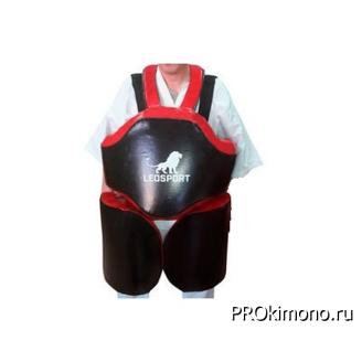 Защита корпус ноги для отработки серий для детей черная тент