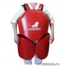 Защита корпус ноги для отработки серий для детей красная натуральная кожа