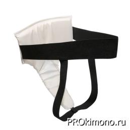 Защита паха женская белая искусственная кожа