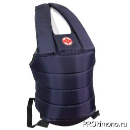 Защитный жилет детский для карате Киокушинкай синий канку красный капрон