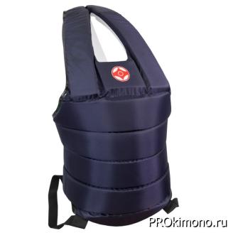 Защитный жилет для карате Киокушинкай синий канку красный капрон